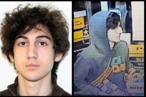 Esta combinación de fotografías proveída por el FBI, muestra a uno de los sospechosos del ataque con bombas contra el Maratón de Boston.