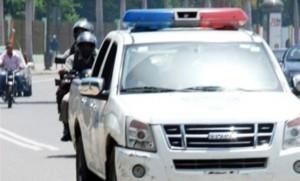 patrulla policial en Uasd