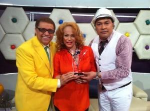 Miriam con Domingo y Pacha