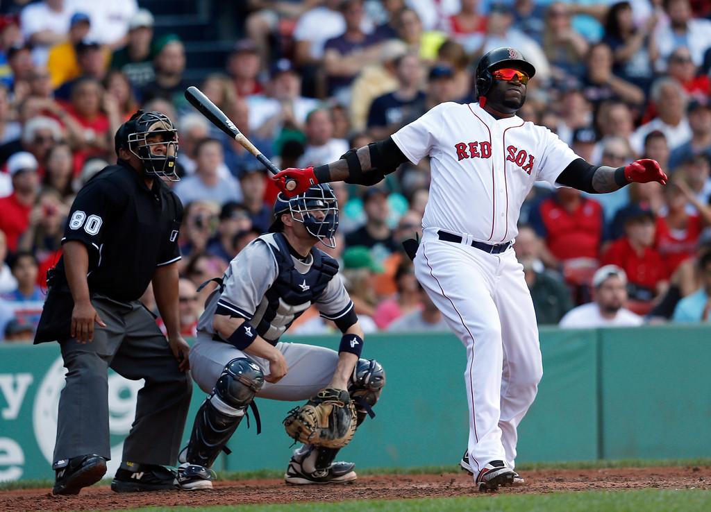 Ortiz dispara jonrón en triunfo de Boston; Jiménez domina los bates de los Atléticos