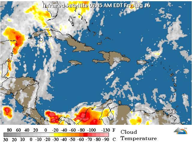 Onamet prevé ocurrencias de chubascos aislados en horas de la tarde y noche; monitorea la tormenta Erín