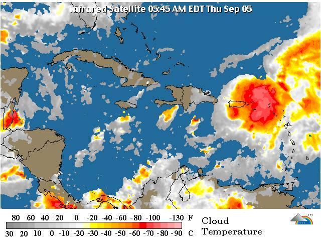 Tormenta tropical Gabrielle se mueve lentamente hacia el noroeste