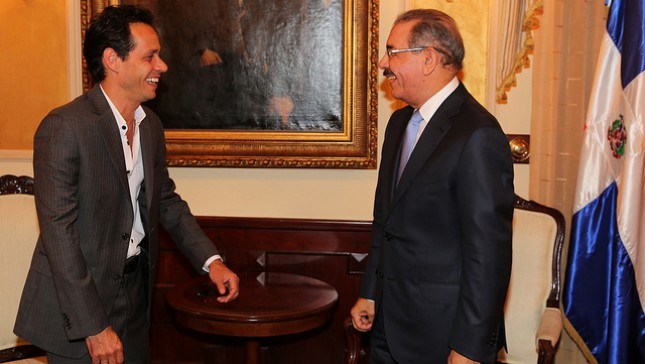 Salsero Marc Anthony visita al presidente Danilo Medina