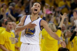 Golden State da paliza a Cleveland y empata la final de NBA; Curry anotó 22 puntos