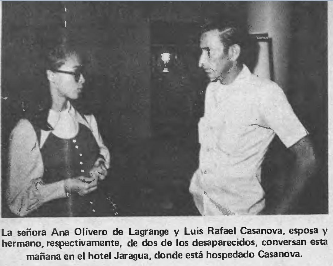 ANA OLIVERO Y LUIS RAFAEL CASANOVA, FOTO